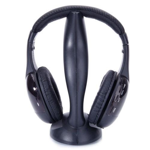 Wireless Headphone Stereo Headset FM Radio For TV PC CD MP3 Player + Transmitter