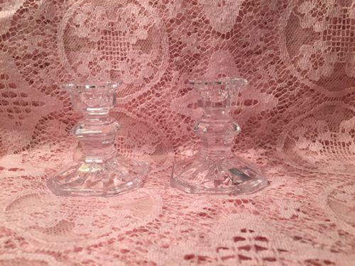 Set of 2 Mikasa Edinburgh Slovenia Crystal Candle Holders