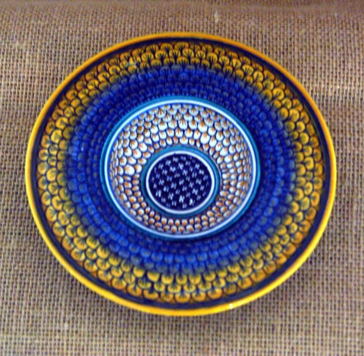 Moroccon/Middle Eastern Small Ceramic Handmade Dish or Ashtray