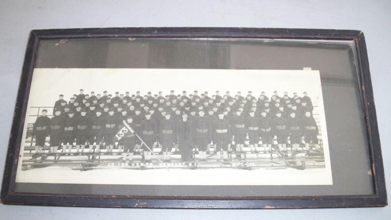 Old Navy CO 133 U.S.N.T.S Newport R.O 1931 Picture from Road Island