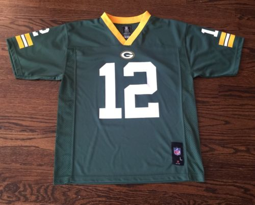 Kids NFL Apparel Green Bay Packers Aaron Rodgers Jersey Size Large 14/16 - EUC
