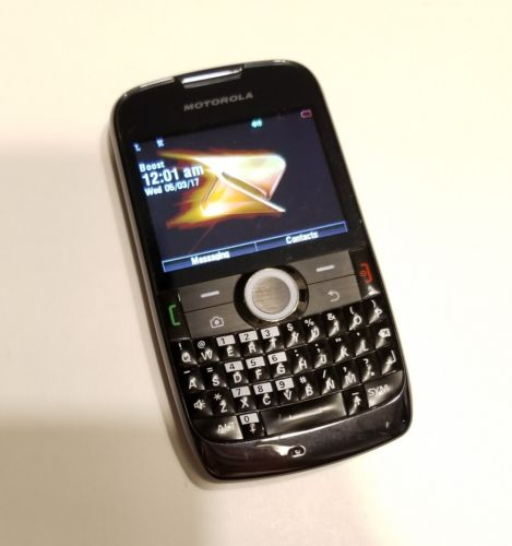 Motorola Theory - Black (Boost Mobile) Cellular Phone  * Good Condition *