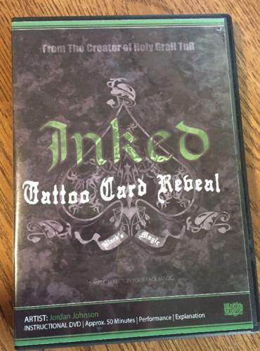 Inked Tattoo Card Rebeal By Jordan Johnson - DVD - Magic Tricks