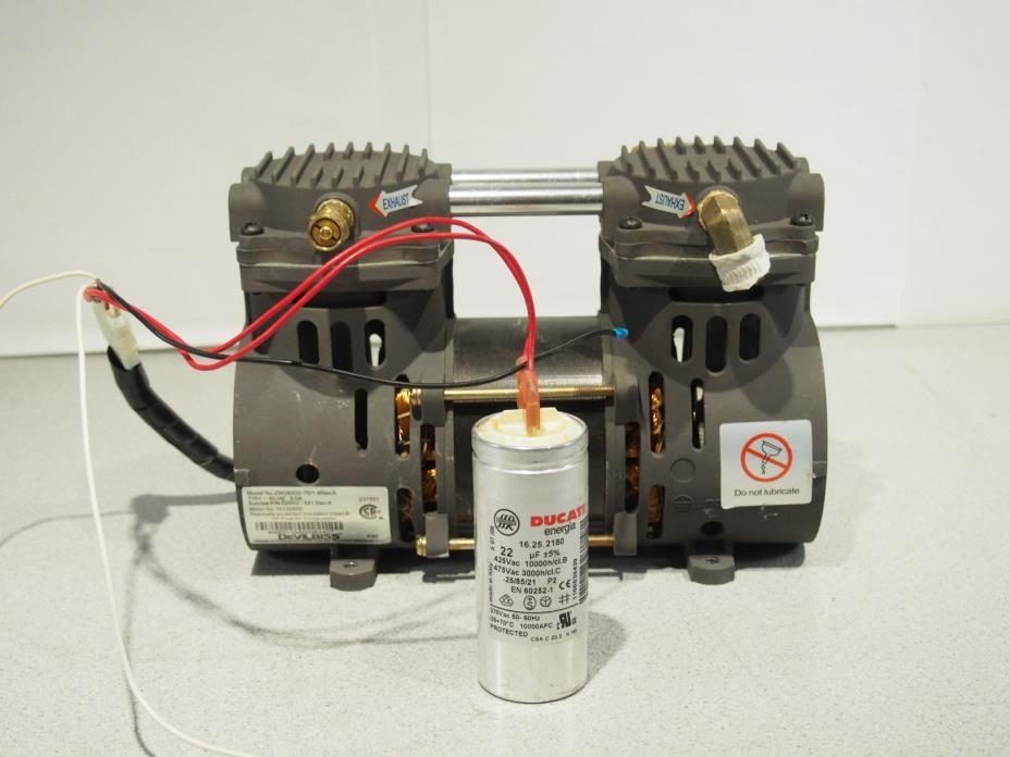 DeVILBISS ZW280D2-75/1.4 Vacuum Compressor Pump w/ Capacitor 35-55 PSI
