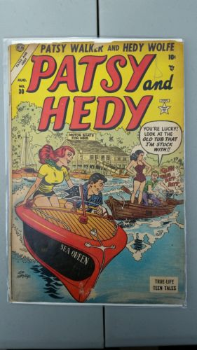 Rare Scarce Vintage Marvel Atlas Patsy And Hedy 30 Comic Book Nice Shape!