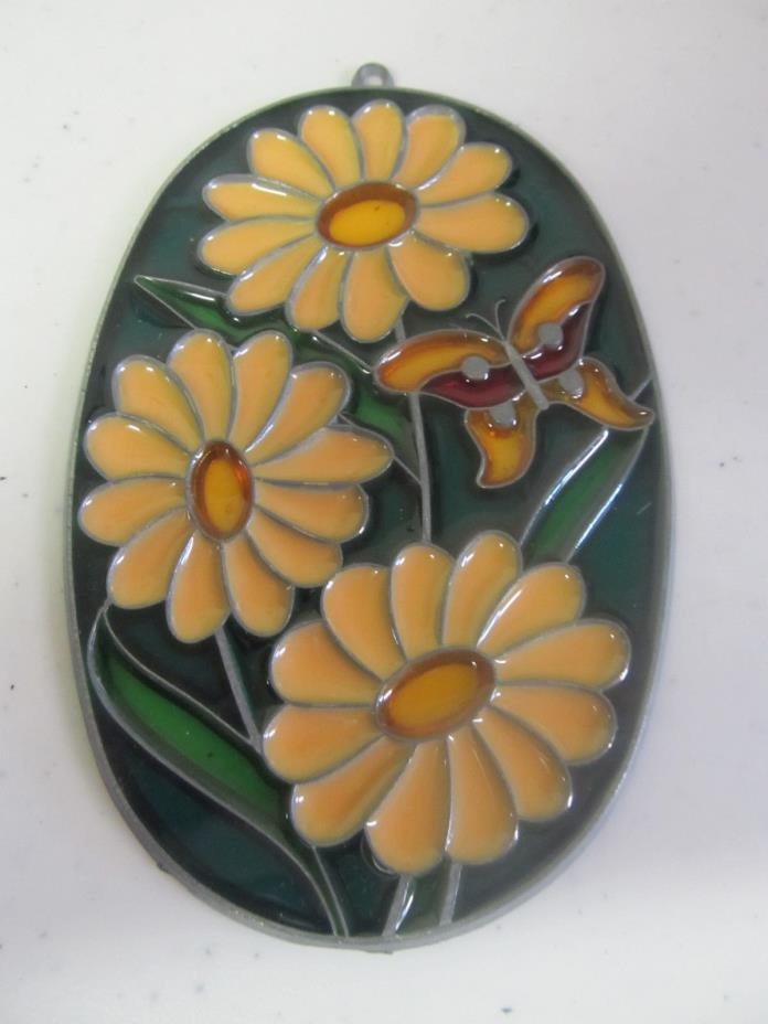 Sun Catcher with flowers and a butterfly