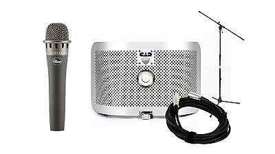 Blue Encore 100i Microphone w/ CAD AS16 Acoustic Shield & MS7701 Stand