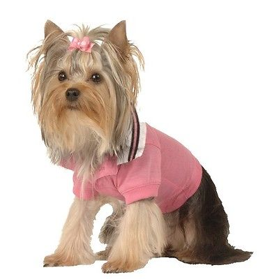 Dog Cat Puppy Clothes Apparel Pink Polo Shirt Small or Medium