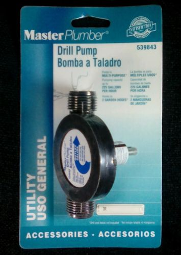 True Value Master Plumber 539843 Drill Pump (NOS Sealed)