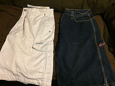 2 lot mens us polo shorts sz 38