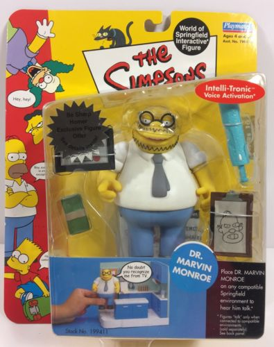 The Simpsons WOS Interactive Figure DR MARVIN MONROE Playworks '02 Series 10 NIP