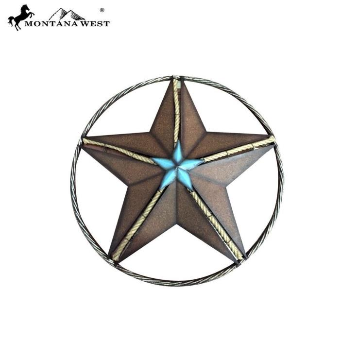 Montana West Metal Star Shape with Rope Wall Home House Decoration