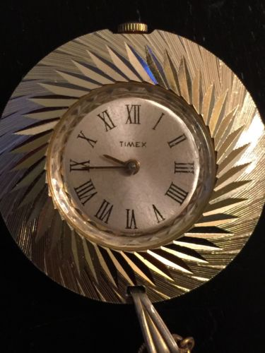 vintage wind up timex pocket watch