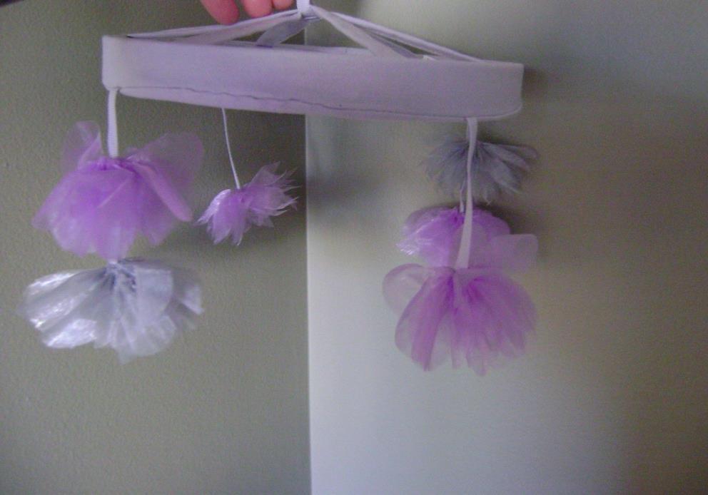 Pottery Barn Kids Organza Flower Crib Mobile ~ No Music Box