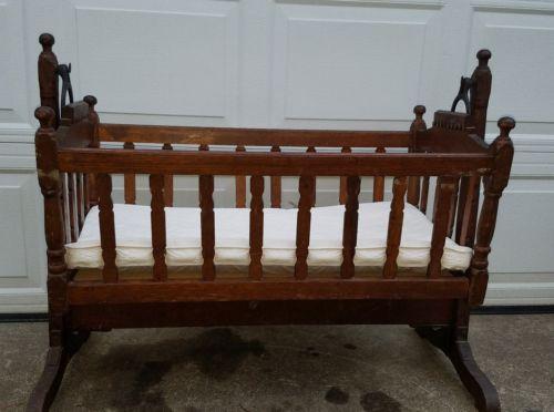 Vintage rocking baby crib