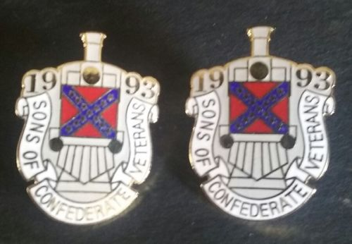 Two 1993 Sons of Confederate Veterans Pins  SCV SHIP FREE