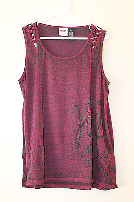New Harley-Davidson women burn out Laced shoulder tank top size 3W