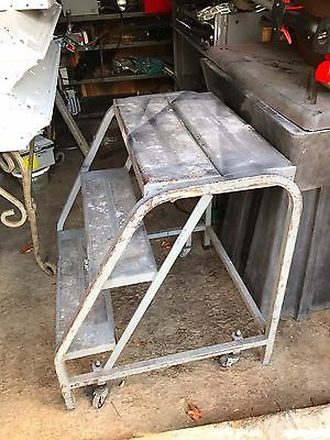 P. W . Industries portable industrial platform stairs USA  30/3/4 Hx26wx27-1/2D