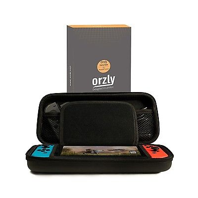 Orzly Nintendo Switch BLACK Protective Hard Portable Travel Carry Case, New