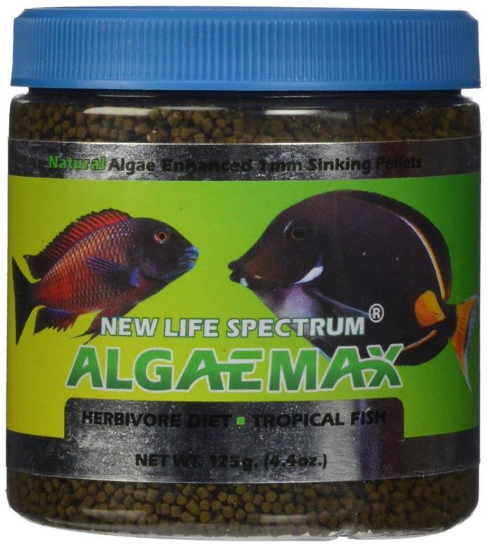 New Life Spectrum AlgaeMAX 1mm Enhanced Algae Pellet Food 125gm