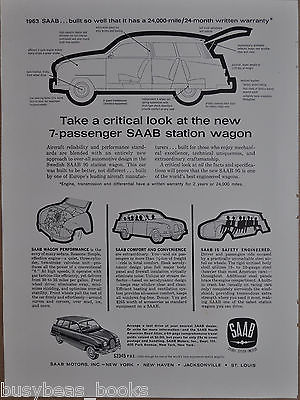 1963 SAAB 95 advertisement page for SAAB 95 station wagon
