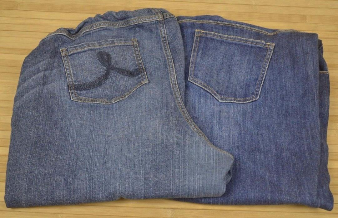 Maternity Jean 2 Pair Lot Old Navy & Indigo Blue Jeans  (D
