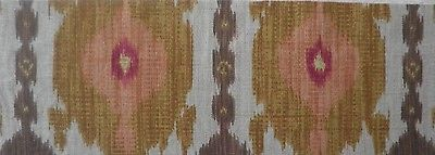 LEE JOFA Kublai Khan Ikat Gold Brown Red Central Asian Remnant New