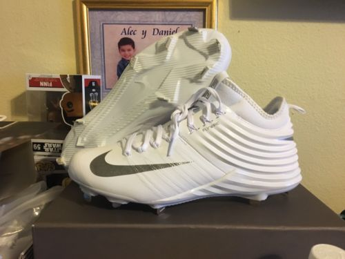 NIKE Lunar Mike Trout 2 Metal Baseball Cleats White Mens Size 10 807127-100