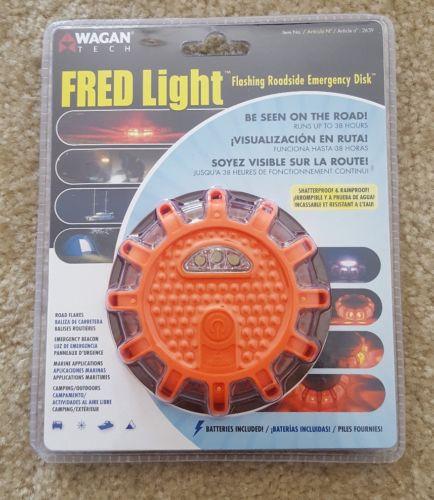 FRED Light Flashing Roadside Emergency Disk LED Road Flare