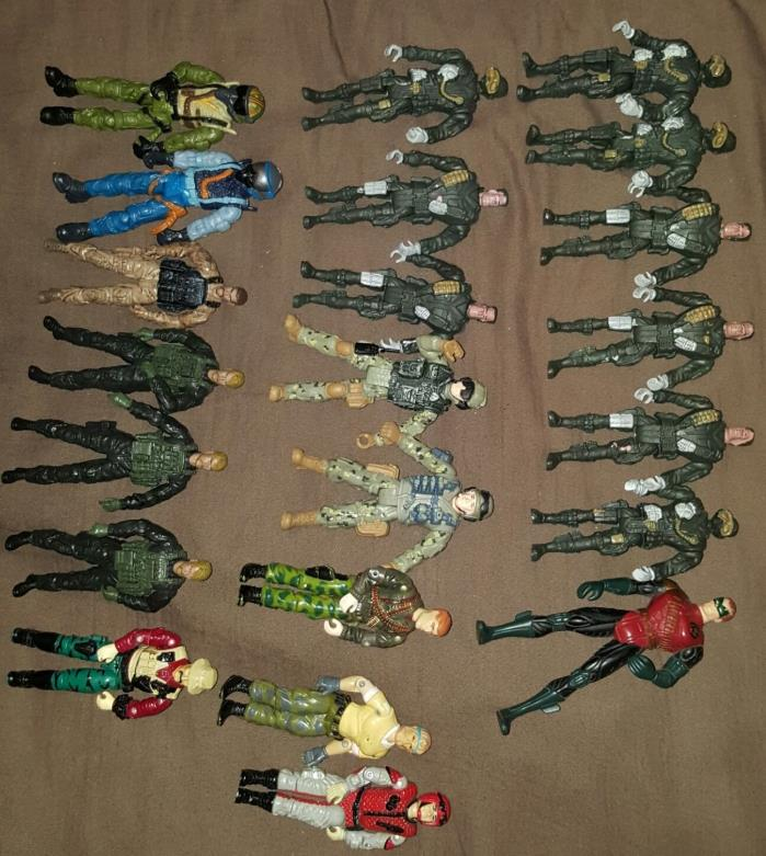 gijoe action figures mixed lot