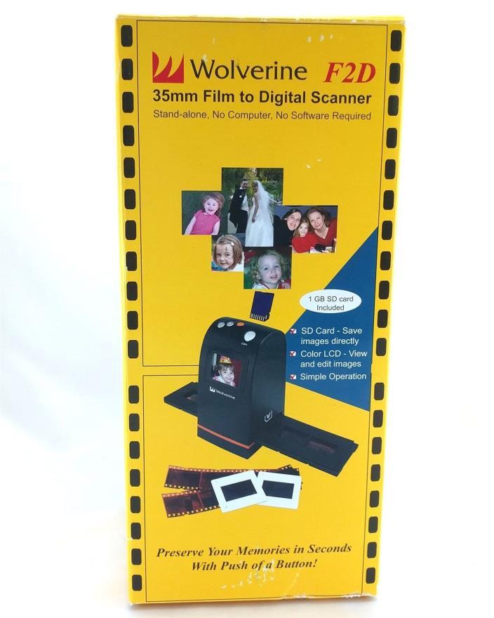 Wolverine Film to Digital Scanner F2D100 Converts Slides or Negatives to Digital