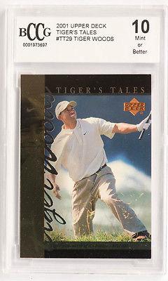 TIGER WOODS UPPER DECK GOLF CARD GRADED BECKETT 10 MINT PGA TOUR