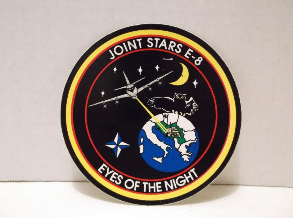 USAF JOINT STARS E-8 Sticker Decal EYES OF THE NIGHT US Air Force