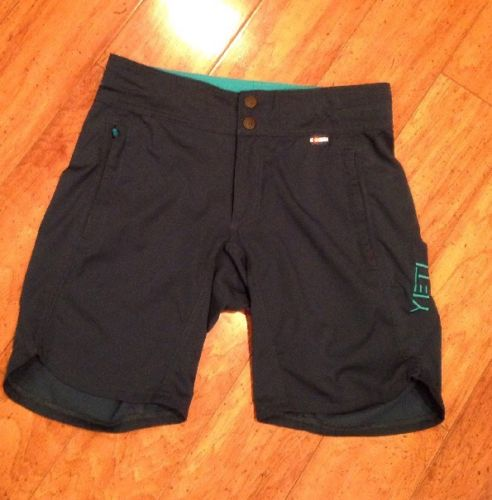 Yeti Cycles Women's Caddoa Mtb Cycling Shorts Size Small Euc