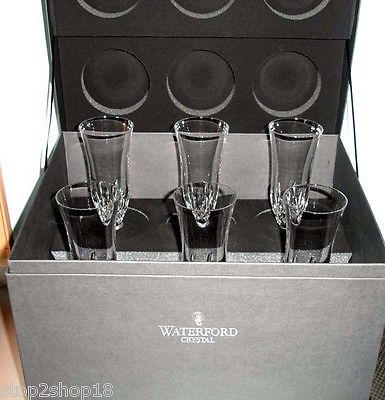Waterford LISMORE ESSENCE Champagne Flute(s) SET/6 Deluxe Box NEW