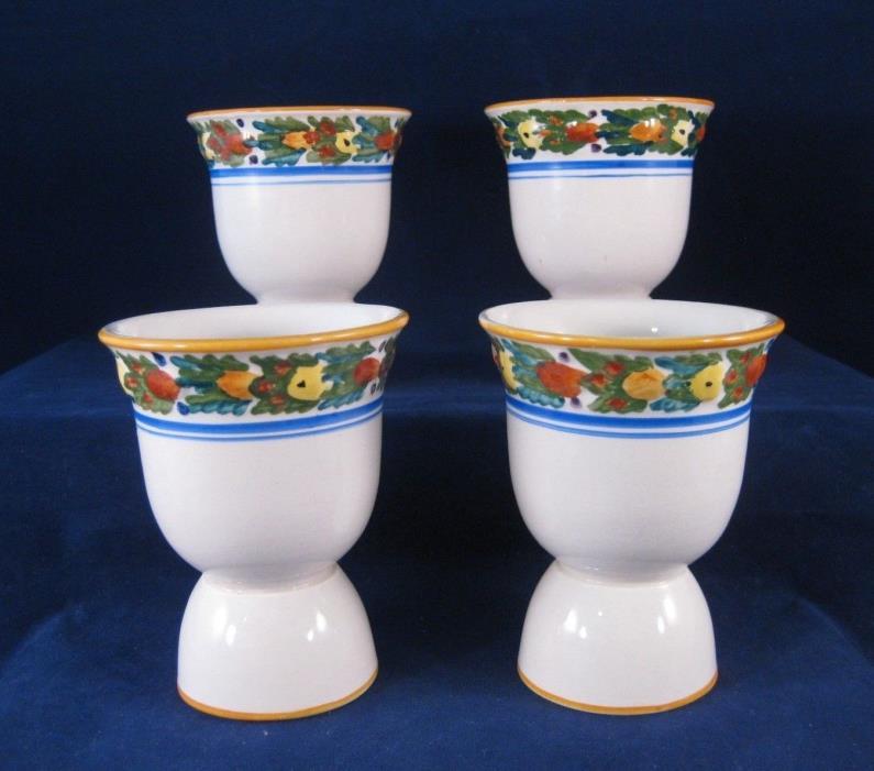 Adams Della Robia Double Egg Cup - Set of 4