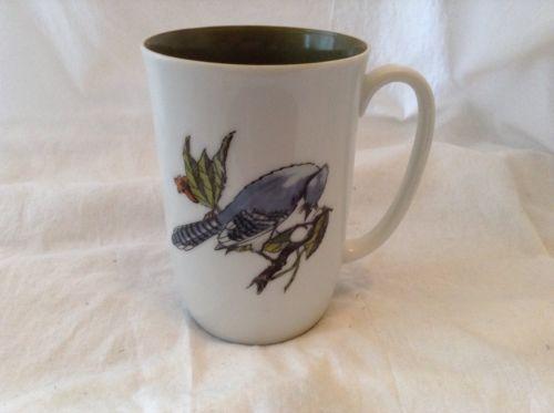 Fitz and Floyd Neiman Marcus Blue Jay Wild Bird Coffee Mug Cup