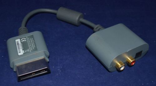 Microsoft Xbox 360 Small Audio Adapter - Grey Official OEM