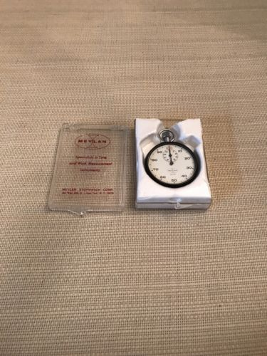 Vintage Meylan Stopwatch 215 1/100 Minute Swiss Made Perfect Working Condition