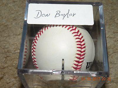 Don Baylor Autographed Baseball