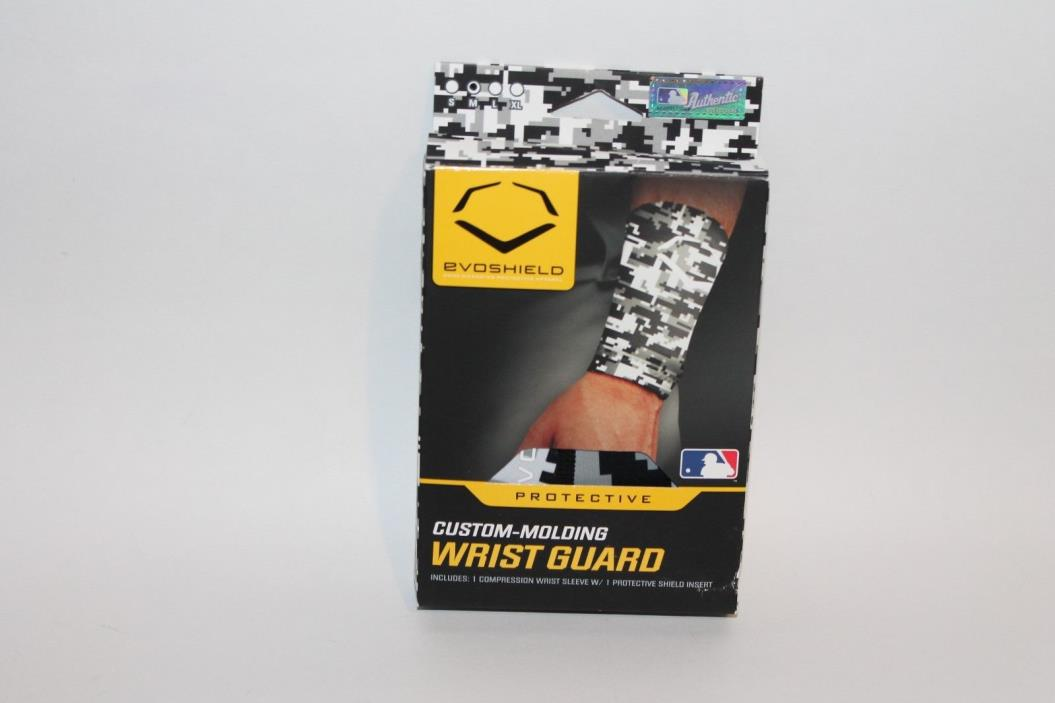 EvoShield Custom Molding Wrist Guard Sleeve w/ Shield Black/White 2044150.052.M