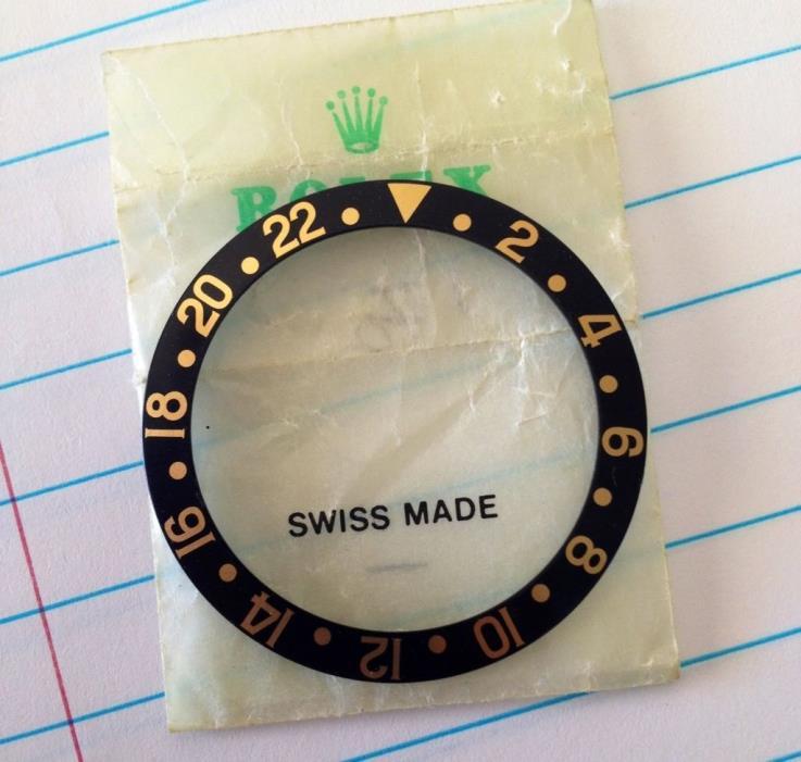 NOS Rolex Mega Fat Font Black Gold Bezel Insert 1675 16753