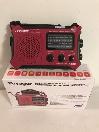 Voyager KA500 Kaito Voyager Solar & Crank Weather Alert Multiband Radio/Charger