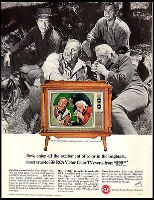 1964 RCA Color TV Television Bonanza Stars Vintage Print Ad