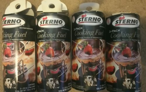 STERNO LOT OF 12 COOKING FUEL CANS Final Touch of Perfection