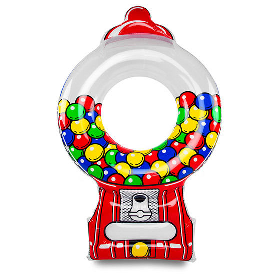 Inflatable Giant Gumball Machine Pool Float 5 Feet