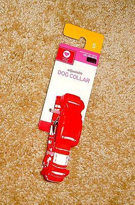 NWT Valentine DOG COLLAR Red & White Candy Stripe size S adjustable VALENTINE