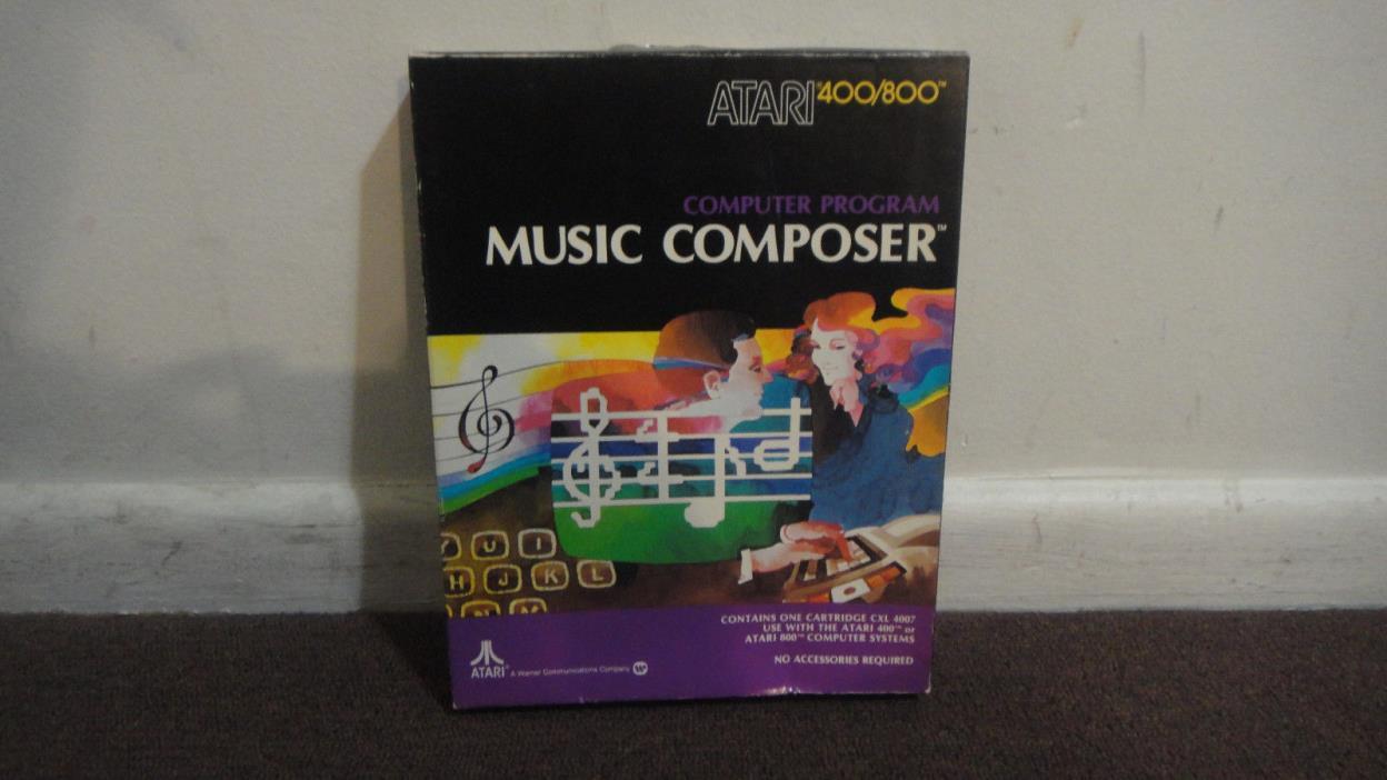 MUSIC COMPOSER Atari 400/800/XL/XE Software Cartridge  Orig Box Nice cond. LOOK!