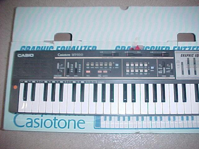 Vintage Casio Casiotone MT-100 synthesizer keyboard synth W/EQ & Box..Great Cond