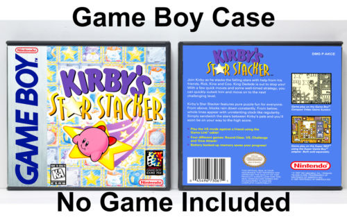 Kirby's Star Stacker - Game Boy GB Custom Case *NO GAME*